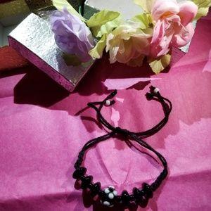 Jewelry - Single Black Hand-made Stringed Bracelet